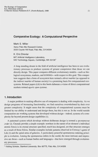 Comparative Ecology: A Computational Perspective