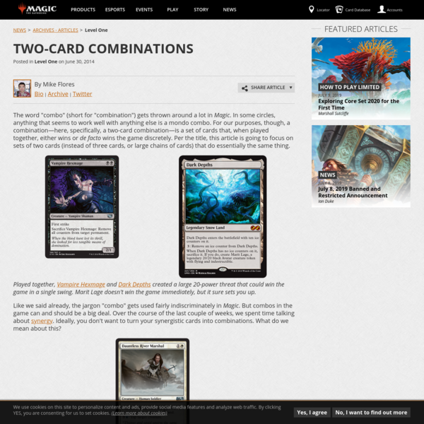 Two-Card Combinations | MAGIC: THE GATHERING