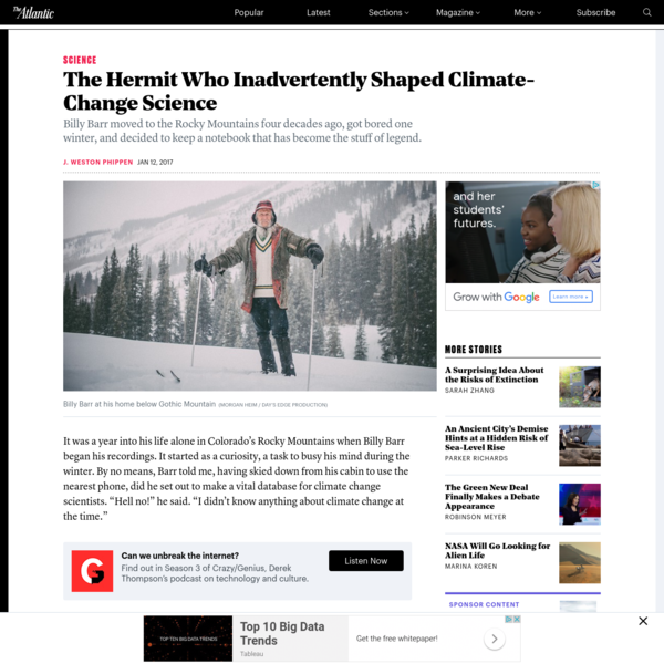 The Hermit Who Inadvertently Shaped Climate-Change Science