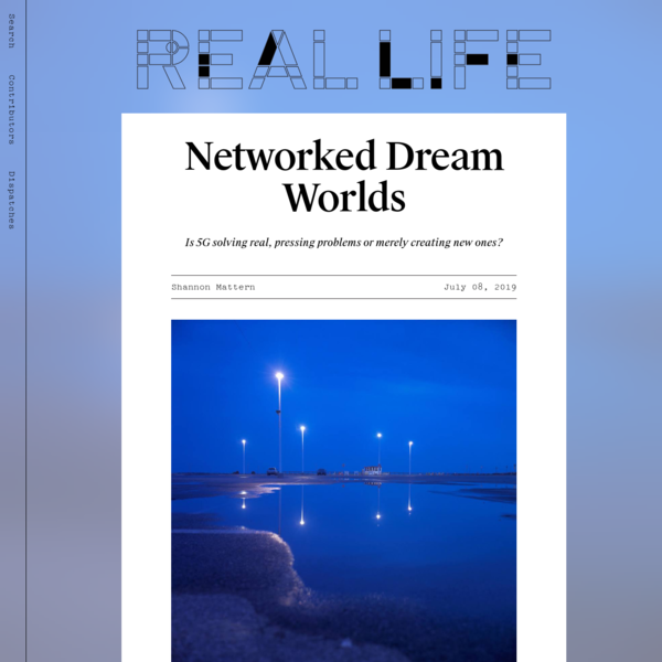 Networked Dream Worlds — Real Life
