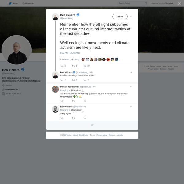 Ben Vickers 🐬 on Twitter