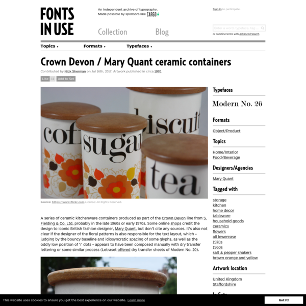 Crown Devon / Mary Quant ceramic containers