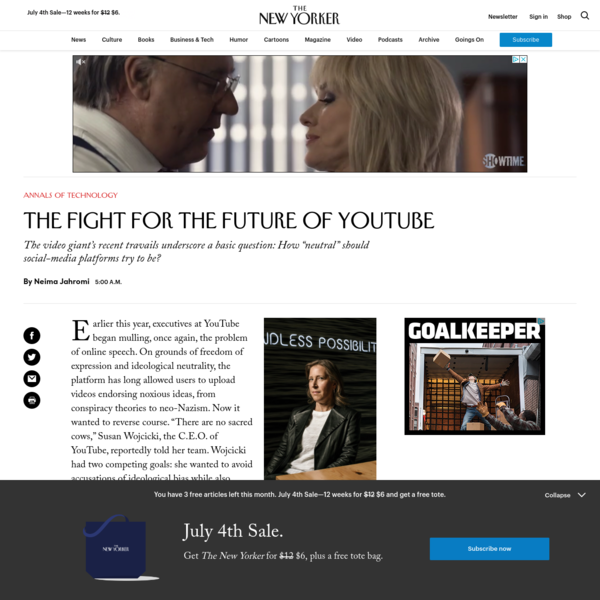 The Fight for the Future of YouTube | The New Yorker
