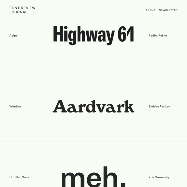 Font Review Journal