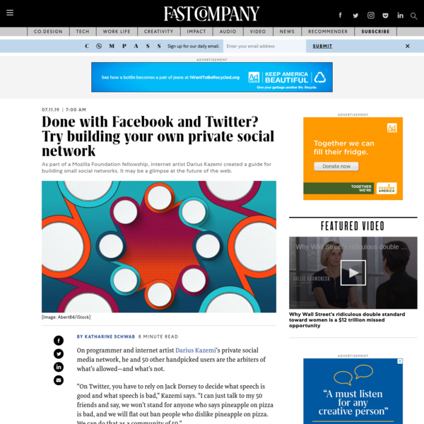 Done with Facebook and Twitter? Try building your own private social network