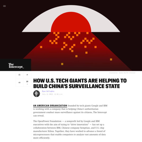 How U.S. Tech Giants Are Helping to Build China's Surveillance State