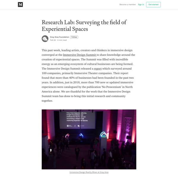 Research Lab: Surveying the field of Experiential Spaces