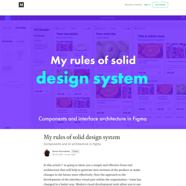 My rules of solid design system - Roman Kamushken - Medium
