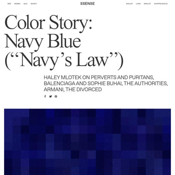 "Color Story: Navy Blue (""Navy's Law"")"