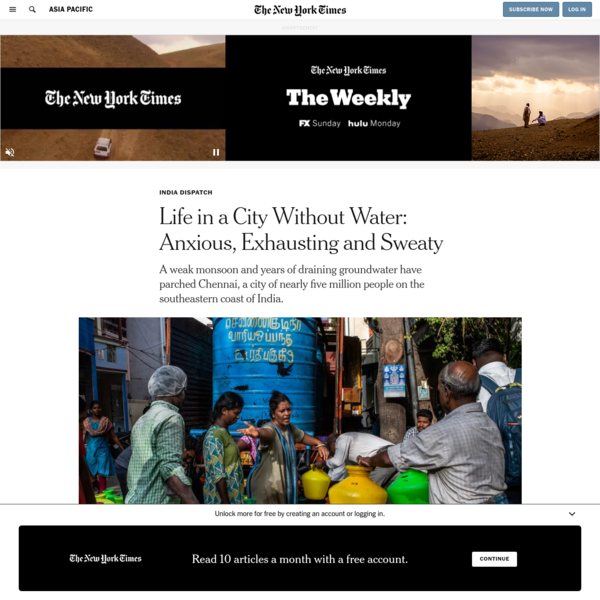 Life in a City Without Water: Anxious, Exhausting and Sweaty