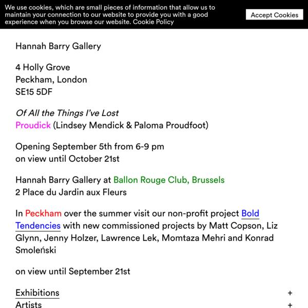 Hannah Barry Gallery