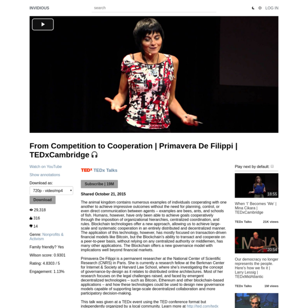From Competition to Cooperation   Primavera De Filippi   TEDxCambridge