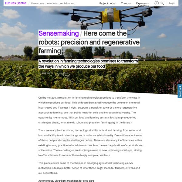 Here come the robots: precision and regenerative farming