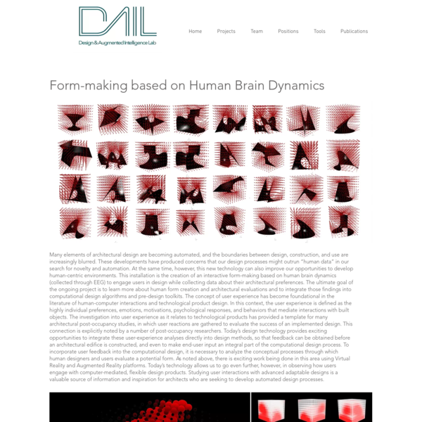 Form-making based on Human Brain Dynamic | dail
