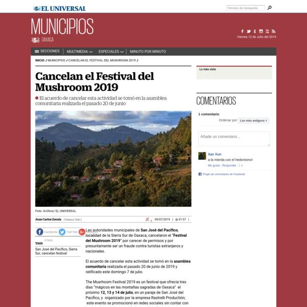 Cancelan el Festival del Mushroom 2019