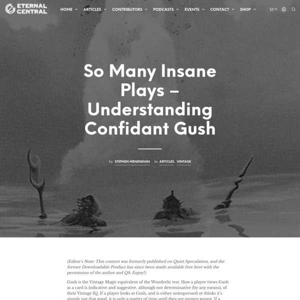 So Many Insane Plays - Understanding Confidant Gush
