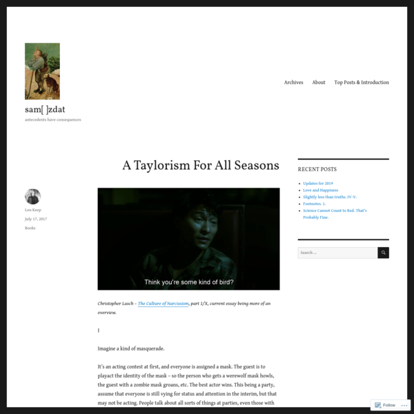 A Taylorism For All Seasons