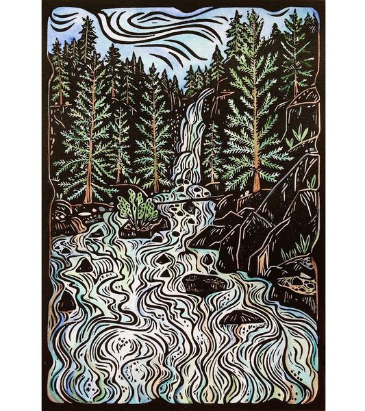 Here is how the final Fish Creek Falls print turned out. Thanks for all the nice comments along the way! You can get more in...