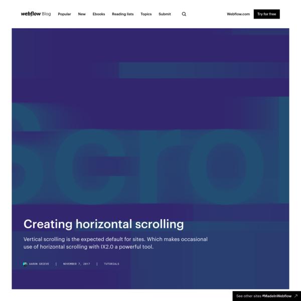 Creating horizontal scrolling | Webflow Blog