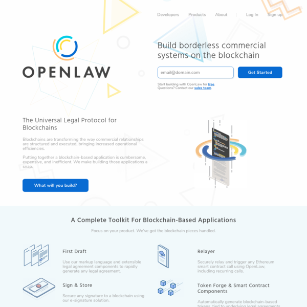 OpenLaw - A free legal repository