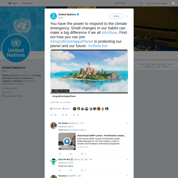 United Nations on Twitter