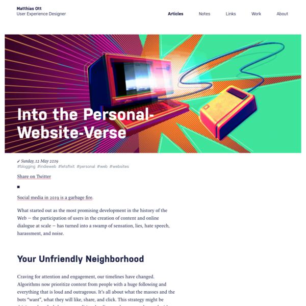 Into the Personal-Website-Verse · Matthias Ott - User Experience Designer