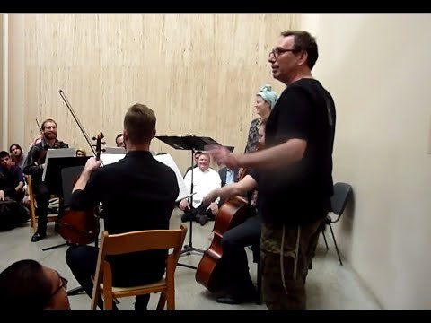 "Jack Quartet with Tony Arnold performing ""Pandora's Box"" 5/2/2015 LACMA John Zorn Marathon"