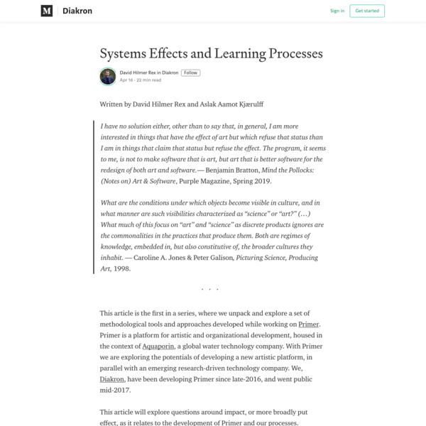 Systems Effects and Learning Processes - Diakron - Medium