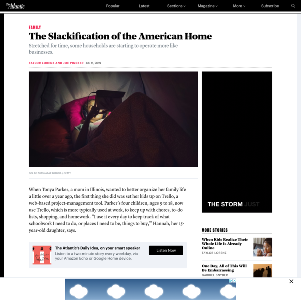 The Slackification of the American Home