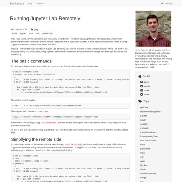 Running Jupyter Lab Remotely