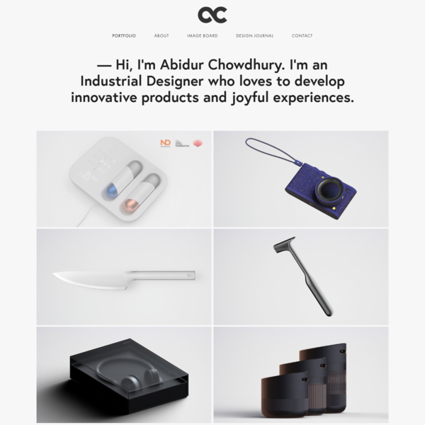 Abidur Chowdhury Freelance Industrial & Product Designer, London
