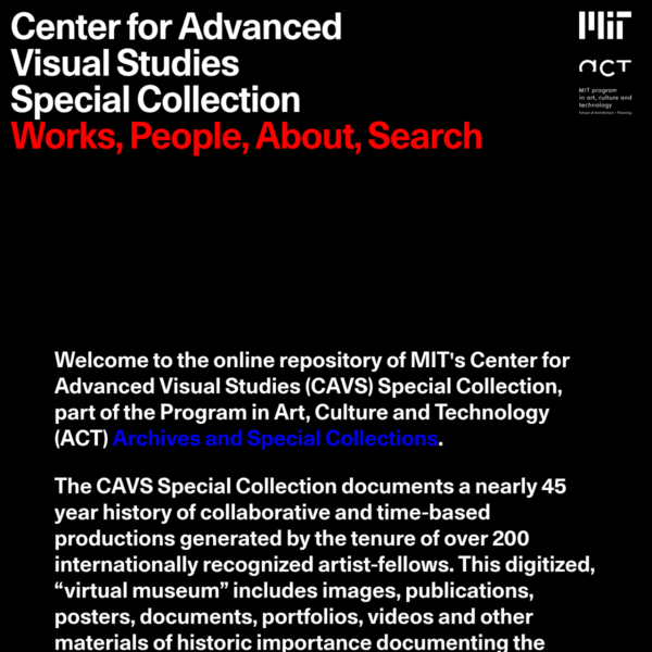 MIT Center for Advanced Visual Studies Special Collection