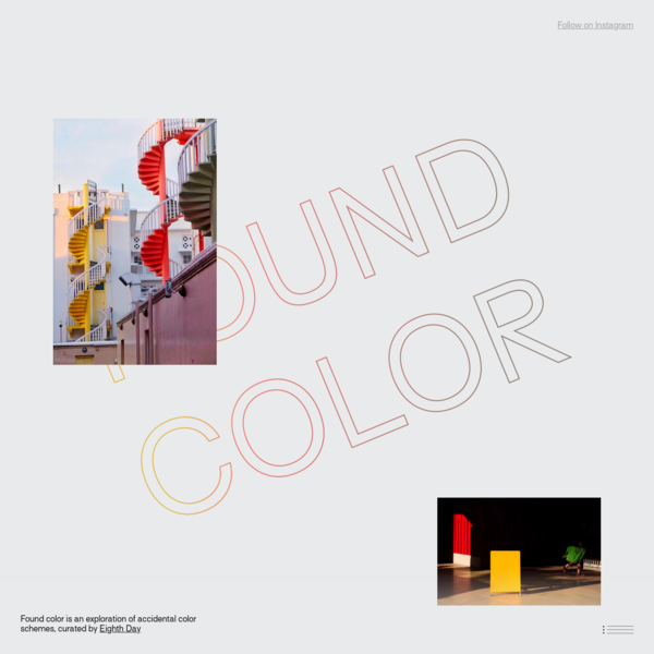 FOUND COLOR schemes for web and UI