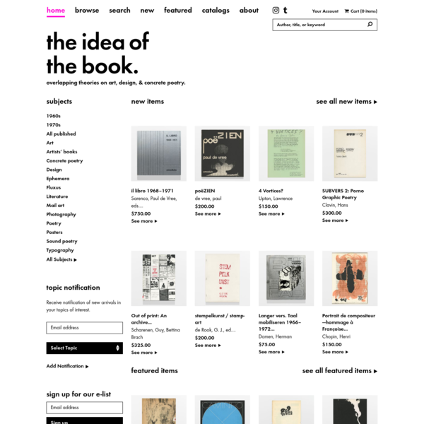 The Idea of the Book
