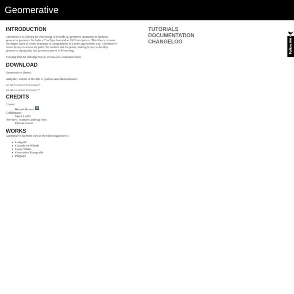Geomerative
