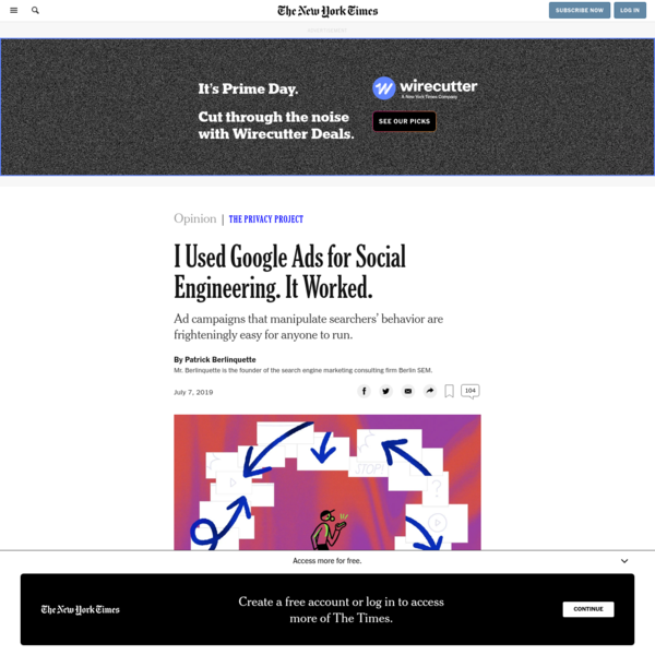 Opinion | I Used Google Ads for Social Engineering. It Worked. - The New York Times