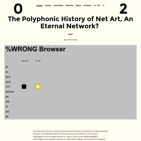 The Polyphonic History of Net Art, An Eternal Network?