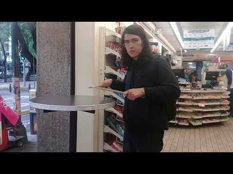 Playing a 7/11 polyrhythm inside a 7-Eleven on July 11th at 7:11 for 7 minutes and 11 seconds