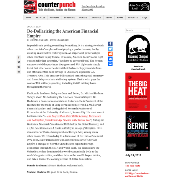 De-Dollarizing the American Financial Empire