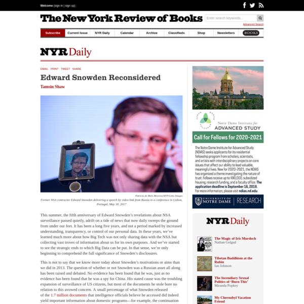 Edward Snowden Reconsidered