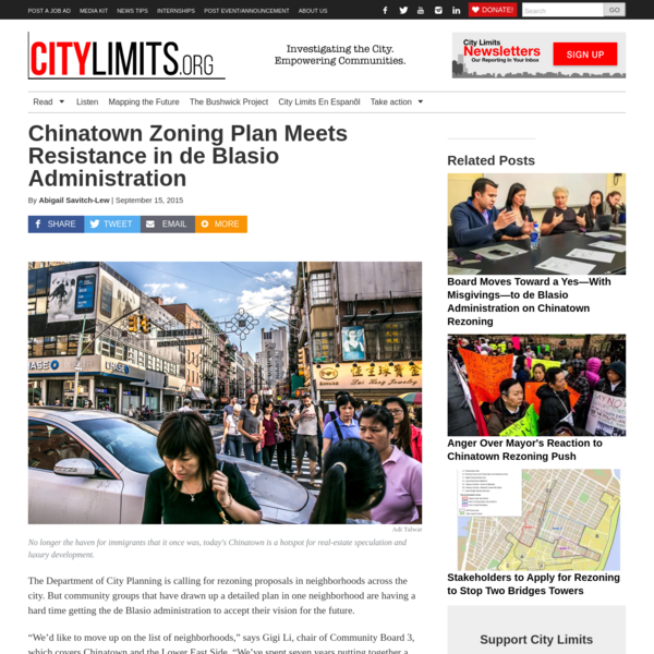 Chinatown Zoning Plan Meets Resistance in de Blasio Administration