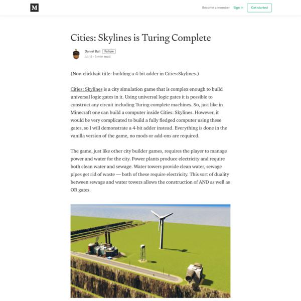 Cities: Skylines is Turing Complete - Daniel Bali - Medium