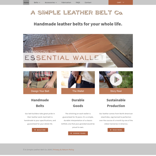 A Simple Leather Belt Co.