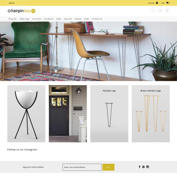 Hairpinlegs.com | Furniture Legs & Fixtures