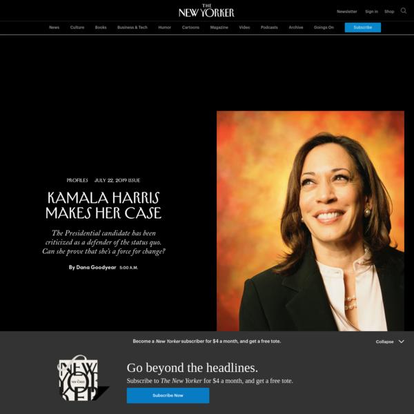 Kamala Harris Makes Her Case | The New Yorker
