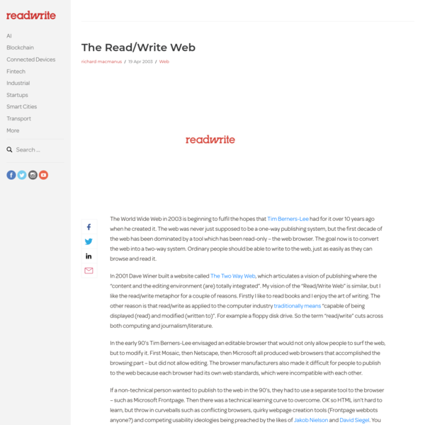 The Read/Write Web - ReadWrite