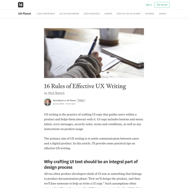 16 Rules of Effective UX Writing - UX Planet