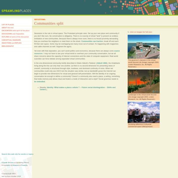 Sprawling Places | Communities split