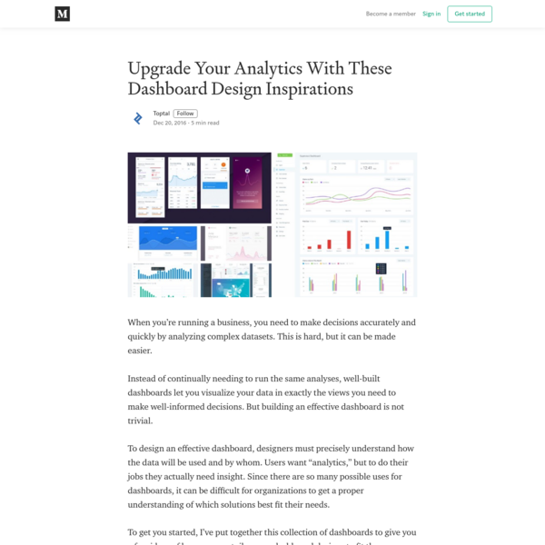 Upgrade Your Analytics With These Dashboard Design Inspirations