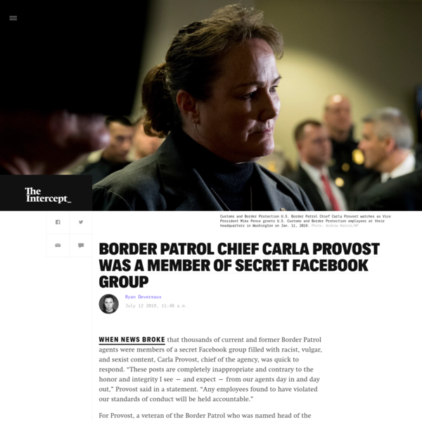 Border Patrol Chief Carla Provost Was a Member of Secret Facebook Group